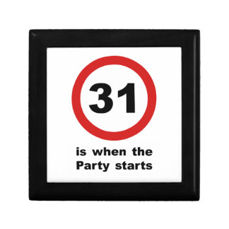 31 is when the Party Starts Jewelry Box