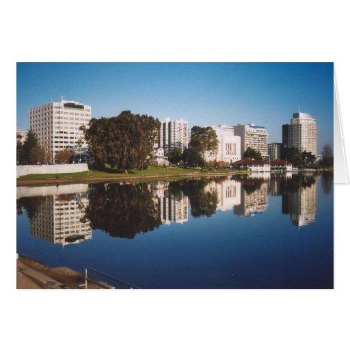 31. Lake Merritt Reflections, Oakland, CA Card