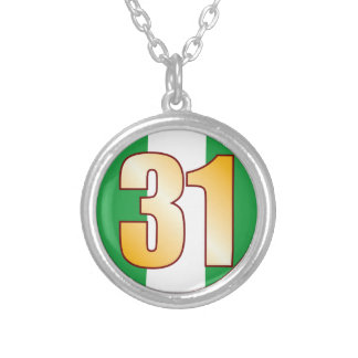 31 NIGERIA Gold Silver Plated Necklace