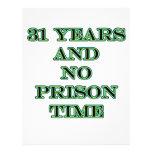 31 ninguna hora de prisión membrete personalizado