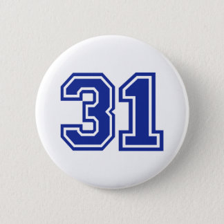 31 - number pinback button
