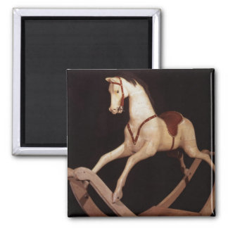 31:Rocking horse, English, 1840 2 Inch Square Magnet