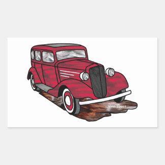 31 sedán de la puerta de Chevrolet 4 Pegatina Rectangular