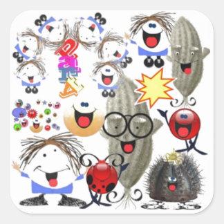 31 smiles per hour square sticker