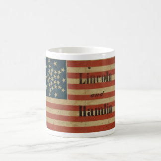 31 Star 1860 Lincoln and Hamlin American Flag Coffee Mug