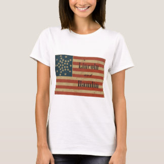 31 Star 1860 Lincoln and Hamlin American Flag T-Shirt