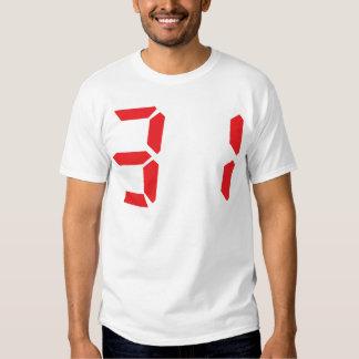 31 treinta y uno números digitales del despertador polera