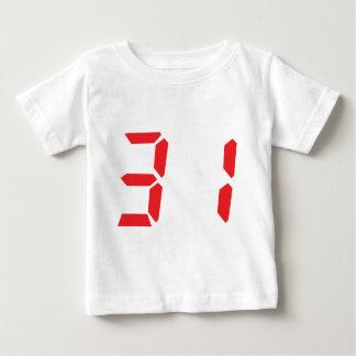 31 treinta y uno números digitales del despertador poleras