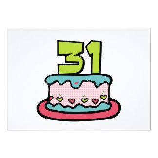 31 Year Old Birthday Cake Card