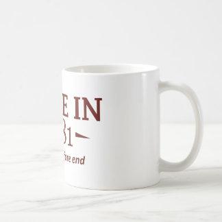 31 year old birthday designs and gifts coffee mug