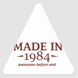 31 year old birthday designs and gifts triangle sticker