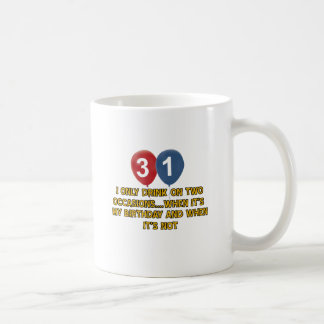 31 year old birthday designs coffee mug