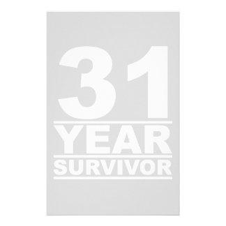 31 year survivor stationery