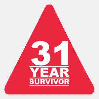 31 year survivor triangle sticker