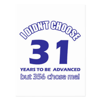 31 years advancement postcard