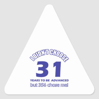 31 years advancement stickers