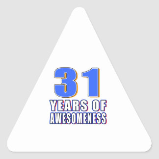 31 Years of Awesomeness Stickers