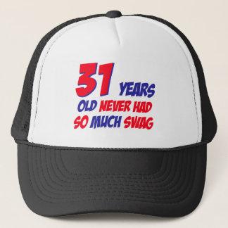 31 years old birthday design trucker hat