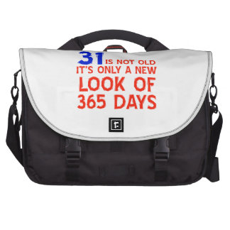 31 years Old birthday designs Computer Bag