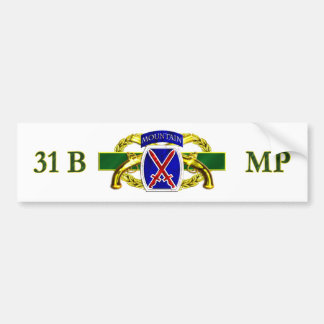 31B 10th Mountain Division Car Bumper Sticker