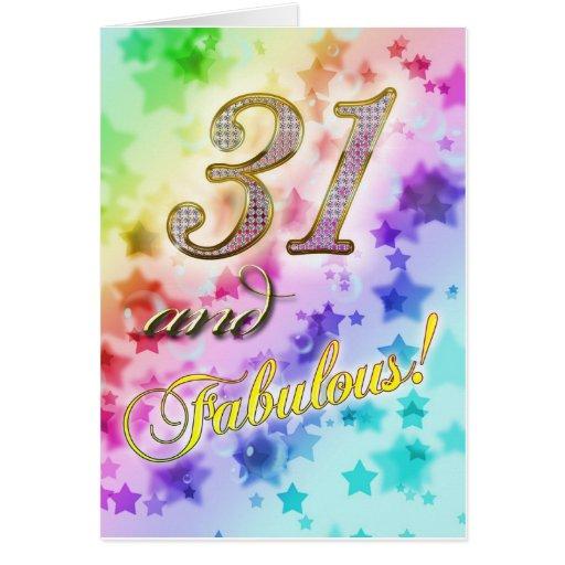 31ro cumpleaños para alguien fabuloso tarjeta de felicitación