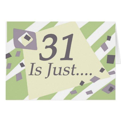 31ro Cumpleaños Tarjeta De Felicitación