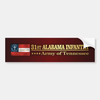 31ro Infantería de Alabama (BA2) Pegatina Para Auto
