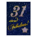 31ro Invitación de la fiesta de cumpleaños Tarjetas