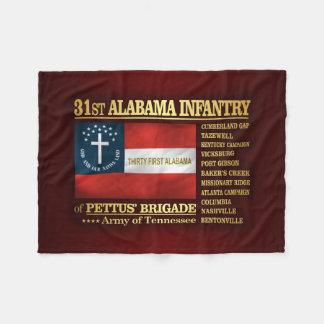 31st Alabama Infantry (BA2) Fleece Blanket