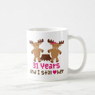31st Anniversary Gift For Her Coffee Mug