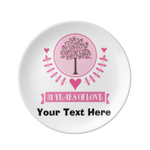 31st Anniversary Gift Idea For Couple Dinner Plate