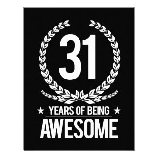 31st Birthday (31 Years Of Being Awesome) Letterhead
