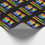 [ Thumbnail: 31st Birthday: Bold, Fun, Simple, Rainbow 31 Wrapping Paper ]
