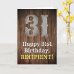 [ Thumbnail: 31st Birthday: Country Western Inspired Look, Name Card ]