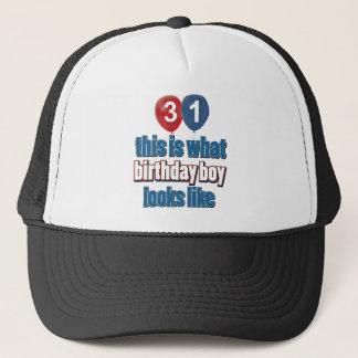 31st birthday designs trucker hat