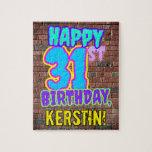 [ Thumbnail: 31st Birthday ~ Fun, Urban Graffiti Inspired Look Jigsaw Puzzle ]
