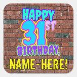 [ Thumbnail: 31st Birthday – Fun, Urban Graffiti Inspired Look Sticker ]