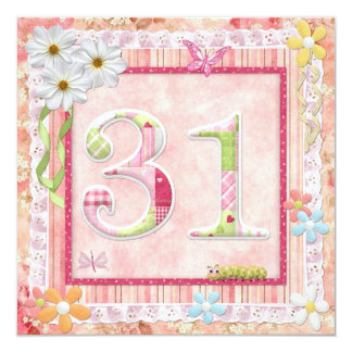 31st birthday party scrapbooking style card