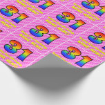 [ Thumbnail: 31st Birthday: Pink Stripes & Hearts, Rainbow # 31 Wrapping Paper ]