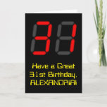 """[ Thumbnail: 31st Birthday: Red Digital Clock Style """"31"""" + Name Card ]"""