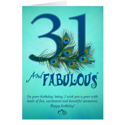 31st Birthday Template Cards Zazzle Happy 31st Birthday Wishes
