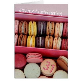 31st French Birthday Macaron-Joyeux Anniversaire! Card