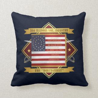 31st Illinois Volunteer Infantry Throw Pillow