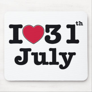31st  july my day of birthday mouse pad