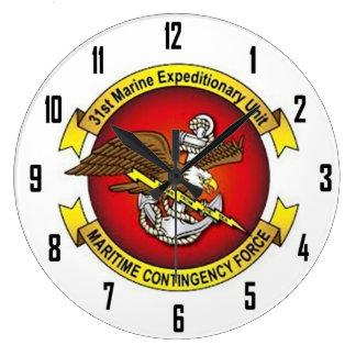 31st MARINE EXPEDITIONARY UNIT Large Clock
