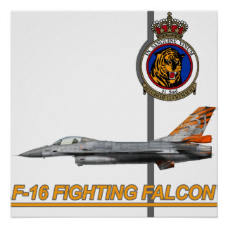 31st Squadron Tiger Belgian Air Force F-16 Print
