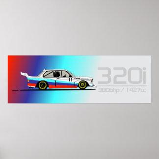 320i Racing Poster