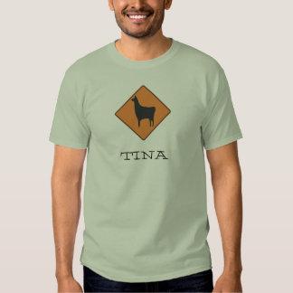 320px-Road_sign_llama.svg, TINA Camisas