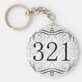 321 Area Code Key Chain