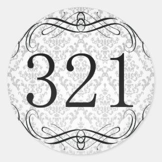 321 Area Code Round Sticker